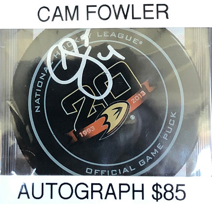 Cam Fowler Ducks signed Puck PSA/DNA certified