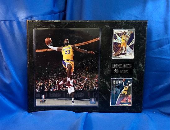 LeBron James Lakers 12x15 sports plaque
