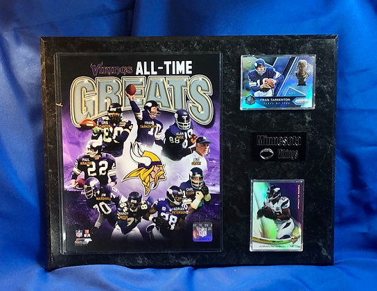 Vikings all-time Greats 12x15 sports plaque