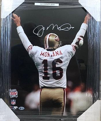 Joe Montana signed 49ers  16x20 Beckett certified