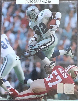 Emmitt Smith Cowboys signed 8x10 unframed Photo HOLO certified