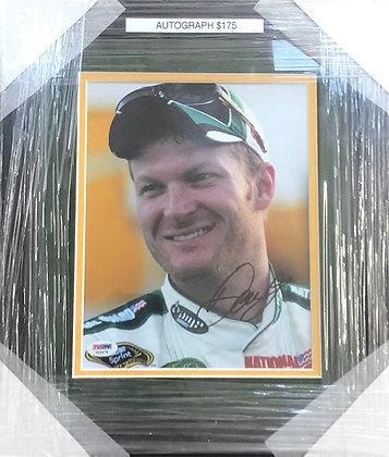 Dale Earnhardt Jr. signed custom frame 8x10  PSA/Dna certified