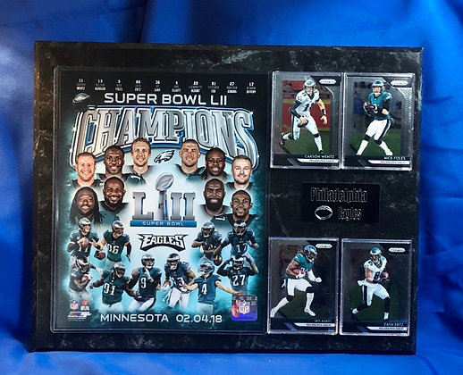 Philadelphia Eagles Super Bowl Champions 12x15 sports plaque