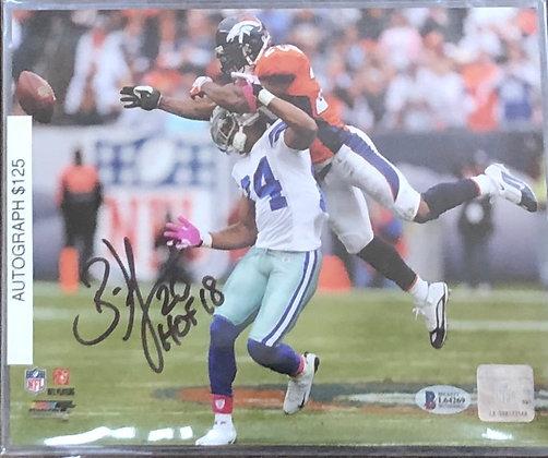 Brian Dawkins Broncos signed 8x10 unframed Photo Beckett certified