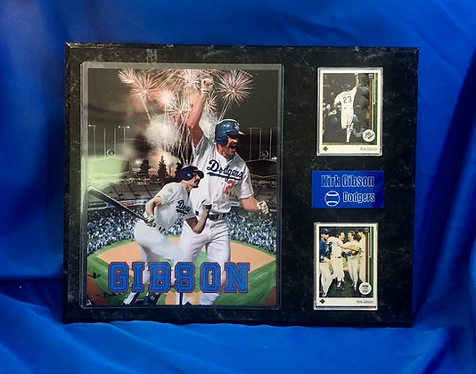 Kirk Gibson Dodgers 12x15 sports plaque