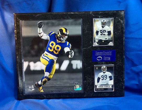 Aaron Donald Rams  rookie 12x15 sports plaque