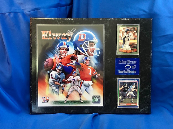John Elway Broncos 12x15 sports plaque