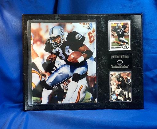 Bo Jackson raiders 12x15 sports plaque