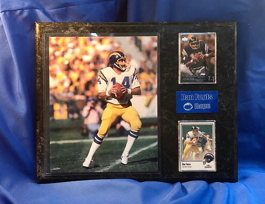 Dan Fouts Chargers 12x15 sports plaque