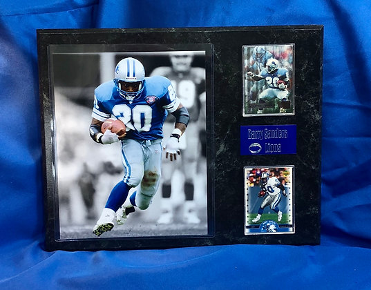 Barry Sanders Lions 12x15 sports plaque