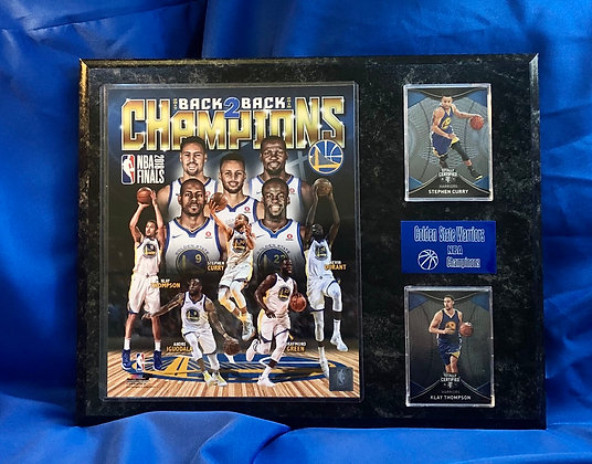 Warriors NBA Champions Curry 12x15 sports plaque