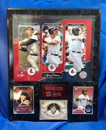 Red Sox Legacy Williams Ortiz Yaz 12x15 sports plaque