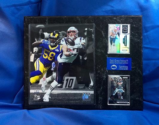 Rob Gronkowski Patriots 12x15 sports plaque