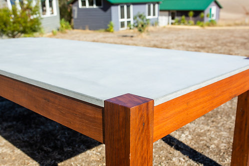 Recycled Red Iron Bark & Concrete Dining Table