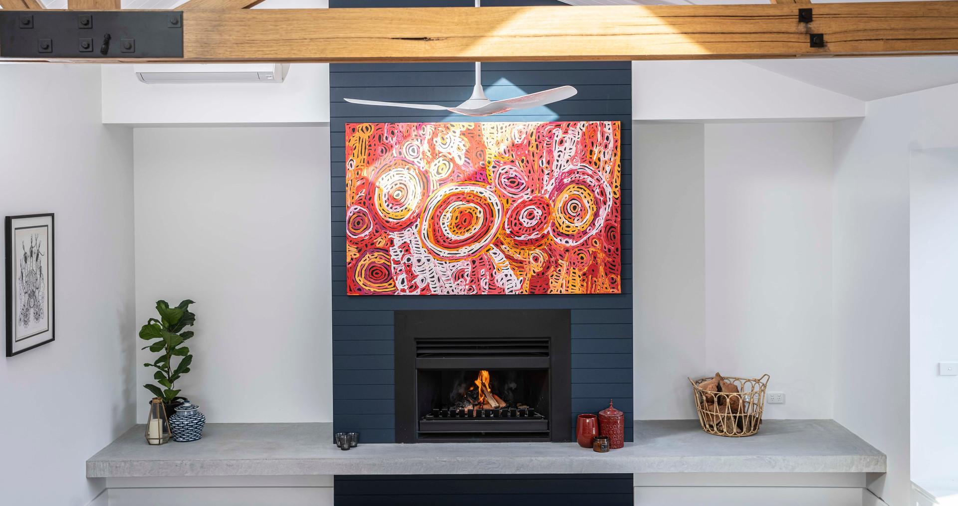 Concrete Fire Hearth - Yarraville, Melbourne