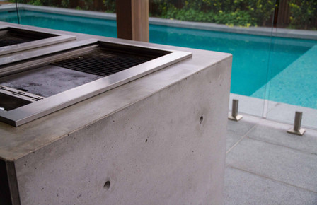 Concrete Outdoor Kitchen