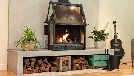 13. Concrete Fire Hearth Concrete Floor Tile Cheminees Philippe - Box Hill Melbourne