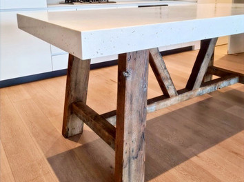 White Concrete Dining Table