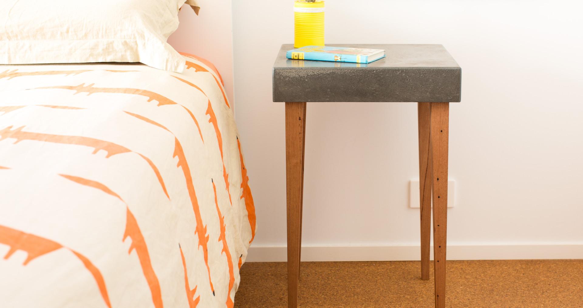 Custom Concrete Side Table - Torquay