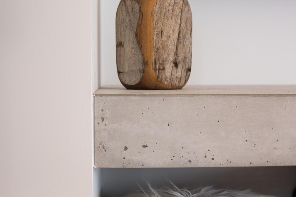 Floating Concrete Hearth Edge Detail