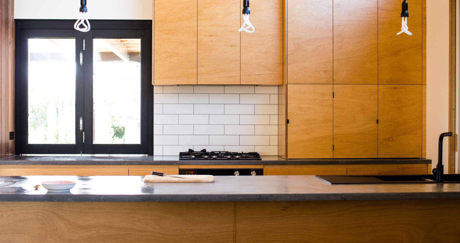 Concrete and Ply Kitchen Project
