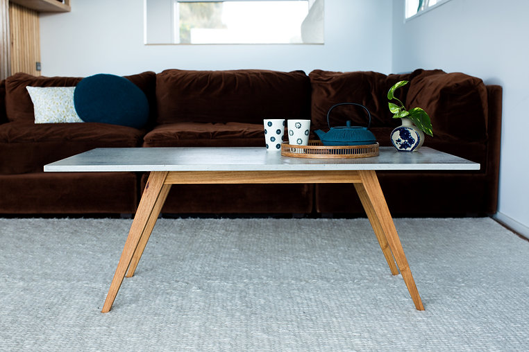 Concrete and Timber Coffee Table