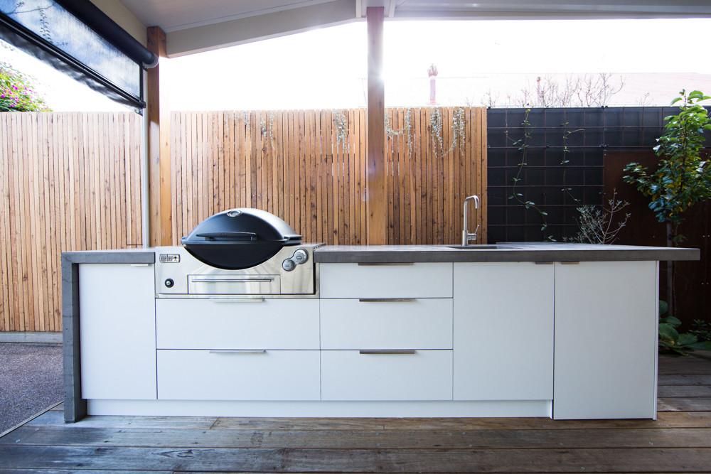 Outdoor Concrete BBQ Kitchen