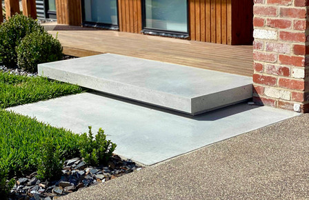 Concrete Floating Steps