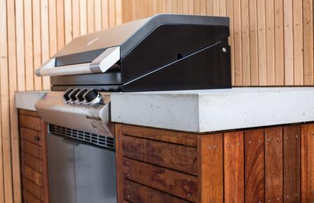 Concrete BBQ Kitchen