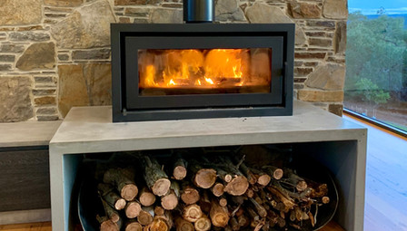11. Concrete Inverted U Fire Hearth - Aireys Inlet