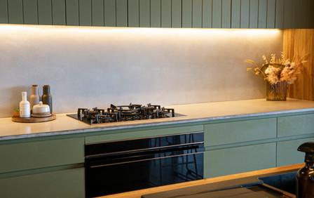 Concrete Kitchen Bench and Concrete Splashback - Lorne