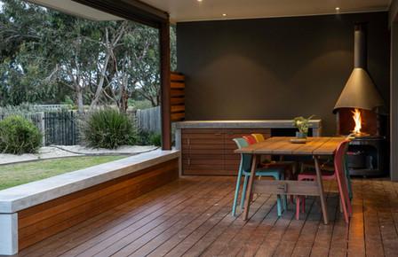 Outdoor Concrete Kitchen Design