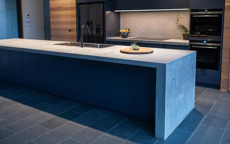 Torquay Kitchen - Cast In-situ Large 4.7m Island Bench