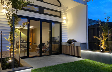 Geelong - Outdoor Concrete BBQ with Timber Battens