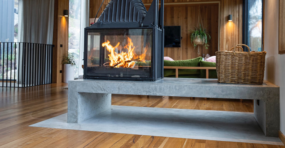 Concrete Fireplace Hearth Cheminees Philippe