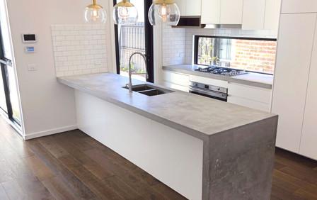 Cast In-Situ Concrete Kitchen in Melbourne