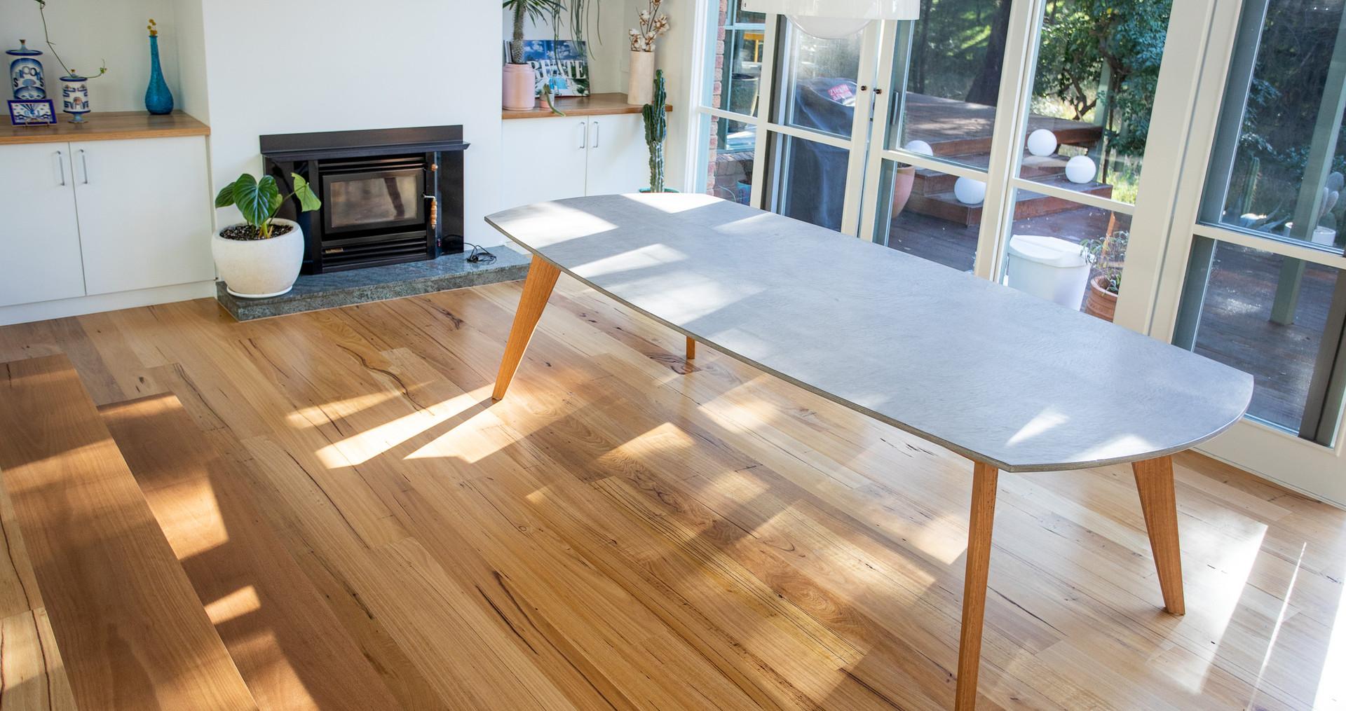 Custom Concrete Dining Table - Jan Juc