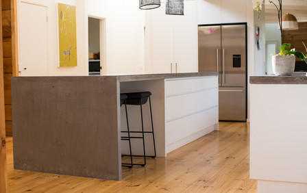 Concrete Kitchen Benchtop in Geelong Country Home