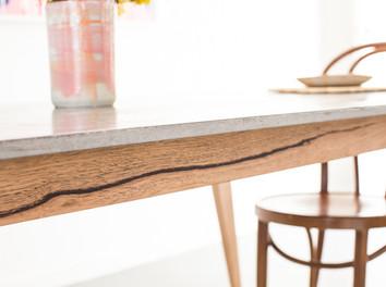 Custom Concrete Dining Table - Geelong