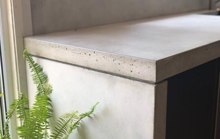 Concrete Kitchen Bench Close Up