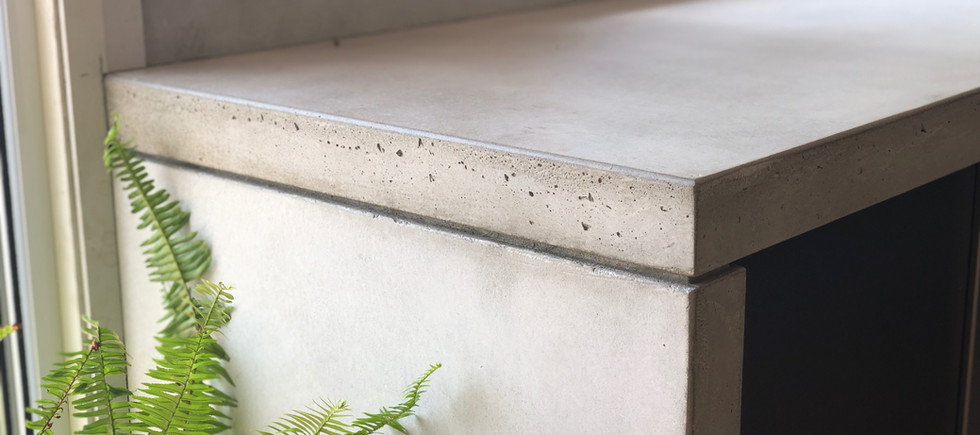 Concrete Kitchen Bench Close Up
