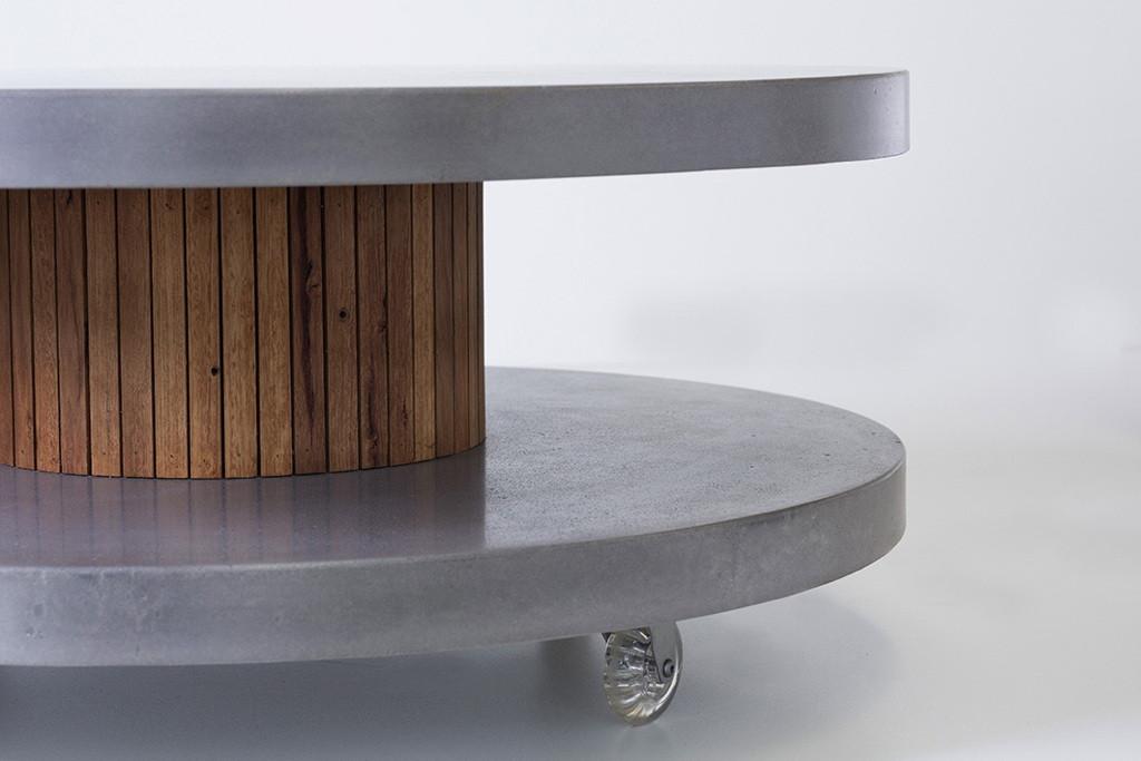Round Concrete Coffee Table - Melbourne