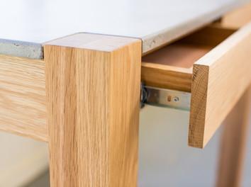 Custom Concrete and Timber Desk - Melbourne