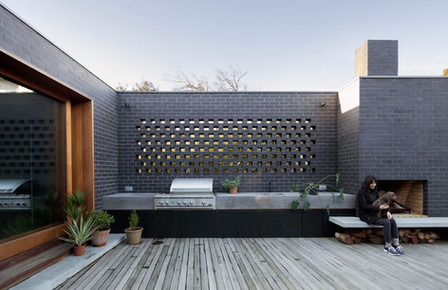 Outdoor Architectural Concrete Kitchen Design