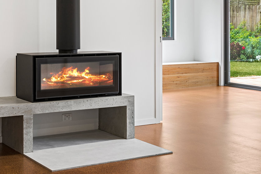 Concrete Fire Hearth Concrete Tile with ADF Fireplace