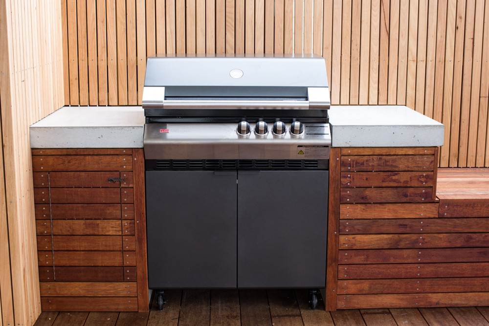 Concrete Outdoor BBQ with Timber Cabinetry