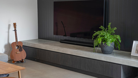 2. Floating Concrete Fire Hearth Axis Fireplace - Geelong