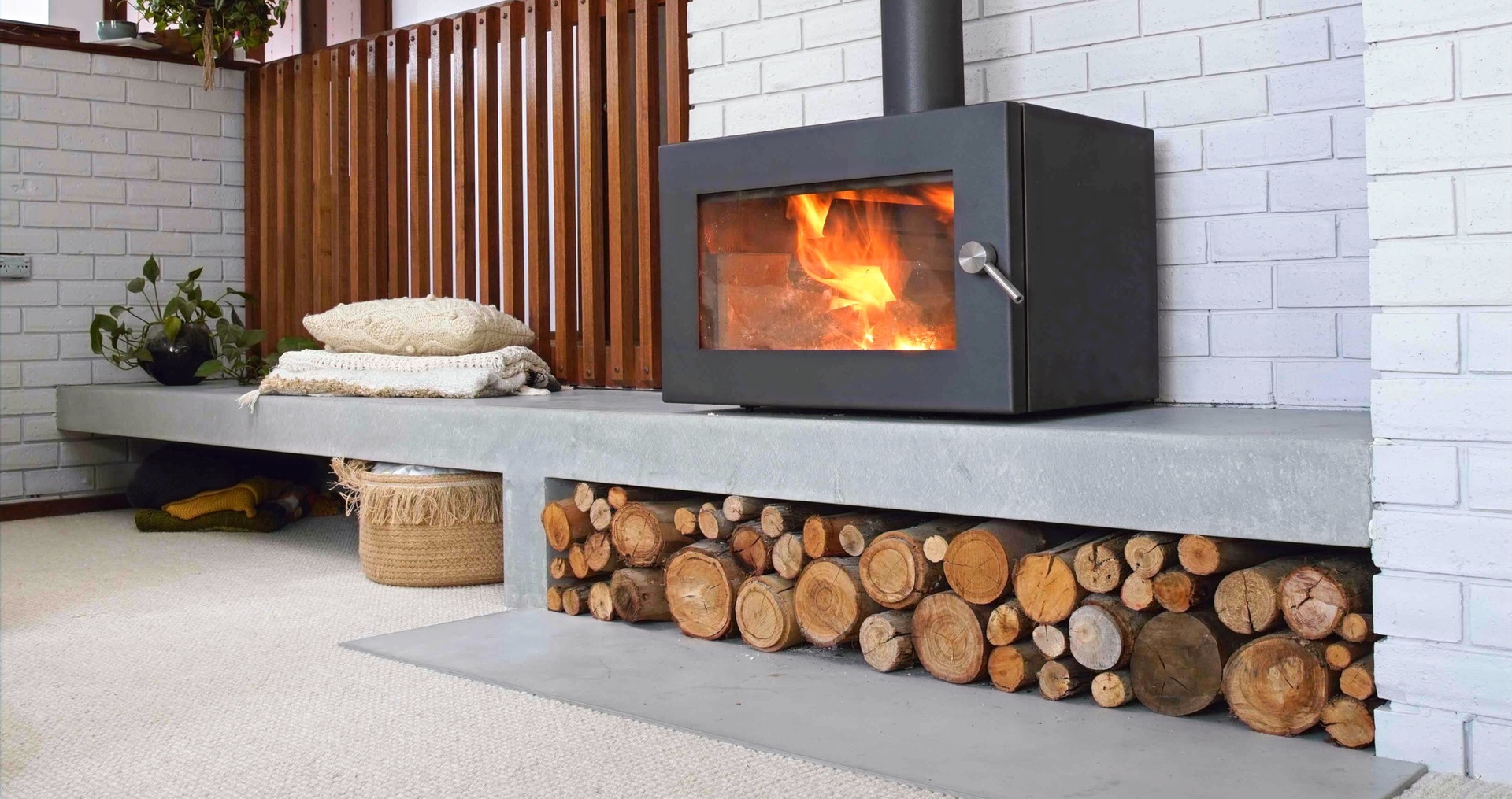 Cast In-Situ Fire Hearth and Concrete Floor Tile - Geelong