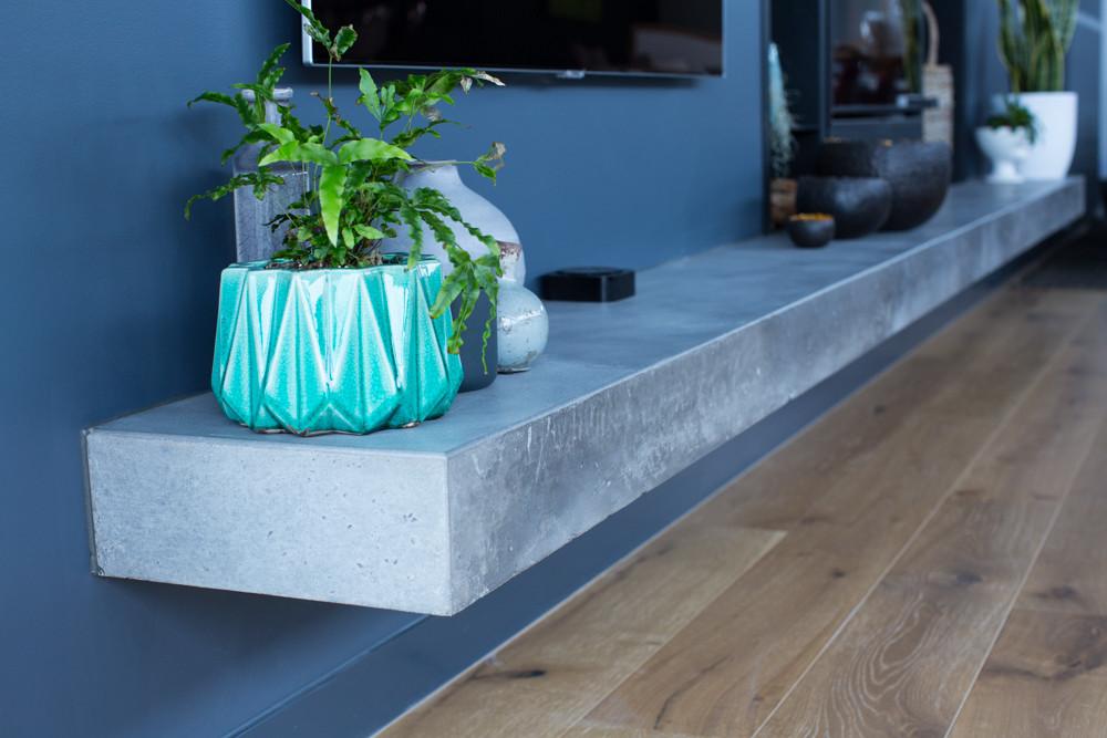 Form Concrete Artisans - Floating Concrete Fire Hearth - Melbourne
