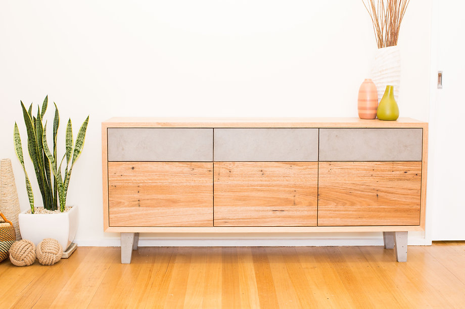 Concrete and Recycled Timber Cabinet